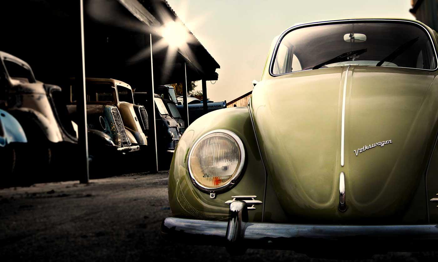 67 beetle in barn