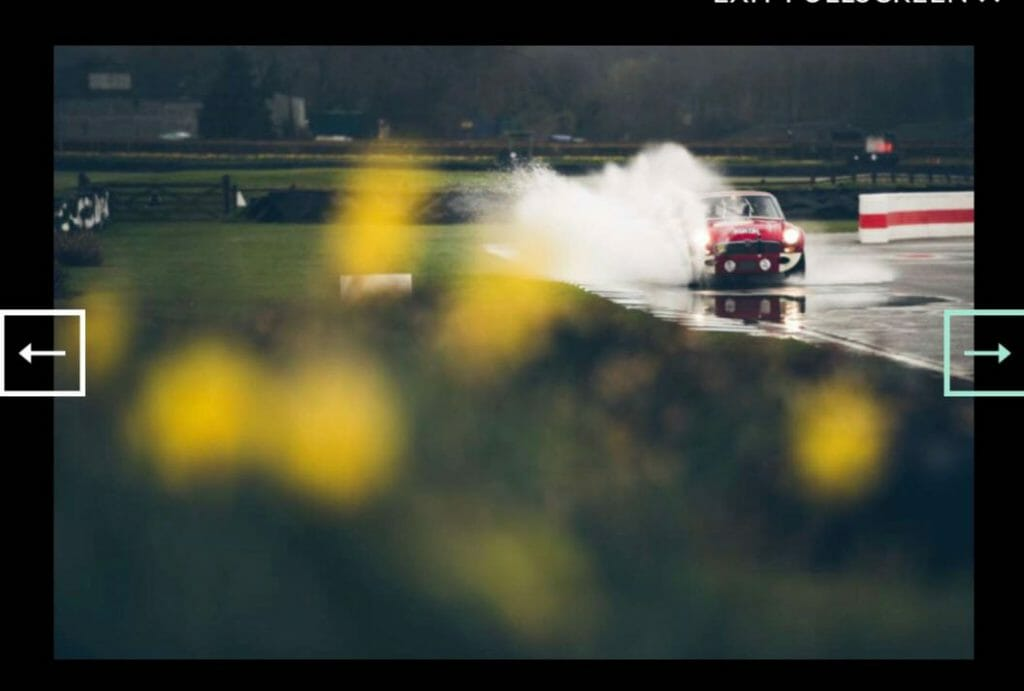 race car on track at goodwood